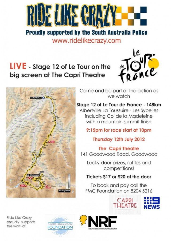 LIVE - Stage 12 of Le Tour on the big screen at The Capri Theatre