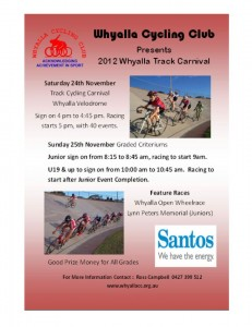 Whyalla Cycling Carnival - November 2012