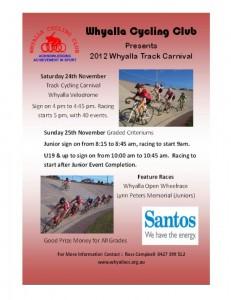 Whyalla Cycling Carnival - November 2012